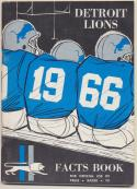 1966 Detroit Lions Media Guide, Near Mint