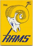 1966 Los Angeles Rams Media Guide, Near Mint