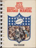 1972 National Football League Record Manual, Excellent Mint