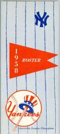 1958 New York Yankees spring training roster em/nm