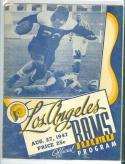 8/27 1947 Los Angeles Rams intersquad football program