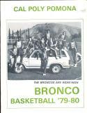 1979-1980 Cal Poly Pomona  Basketball Press Media Guide
