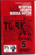 1979-1980 Esatern Kentucky  Basketball Press Media Guide