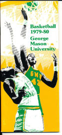 1979-1980 george mason university  Basketball Press Media Guide
