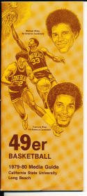 1979-1980 Long Beach Cal State College Basketball Press Media Guide