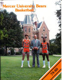 1979-1980 Mercer Unversity Basketball Press Media Guide