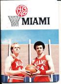 1979-1980 miami Basketball Press Media Guide