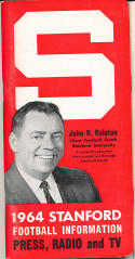 1964 Stanford Football Media Guide