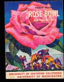1944 Rose Bowl Football Program USC vs Washington