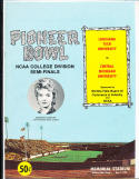 1974 Pioneer Bowl Football Program nm  Louisiana tech vs Central Michigan