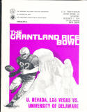 1974 UNLV vs Delaware Grantland Rice Bowl Football program