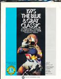 1975 Blue & gray Bowl Football Program