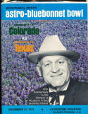 1975 Bluebonnet  Bowl Football program Colorado vs Texas