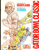 1976 Maryland vs Florida Gator Bowl Football program