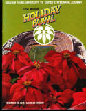 1978 BYU vs Navy Holiday Bowl Football program