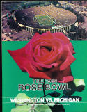 1981 Rose Bowl Football Program nm  Washington vs Michigan