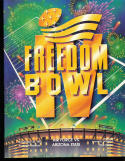 1987  Freedom Bowl football program Air Force vs ASU