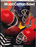 1991 Cotton Bowl football program Texas vs Miami