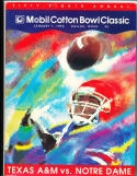1994 Cotton Bowl football program Texas A&M vs Notre Dame