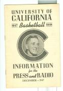 1947  California Basketball Press & Media guide
