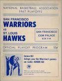 1967 Warriors Hawks NBA playoff program