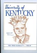 University of Kentucky 1958 Basketball Press Guide