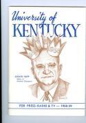 University of Kentucky 1958 Basketball Press Guide BkBx1