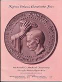 1969 NCAA Finals Championship Program UCLA North Carolina card nm