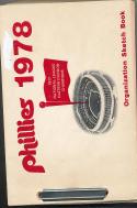 1978 Philadelphia Phillies Organization sketch Book