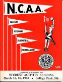 3/15 1963 eastern NCAA basketball program Duke, West Virginia