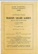 Allied basketball Championship 3/ 26 1945 Madison Square Garden