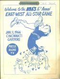 1966 NBA East vs West All Star Game Press Guide