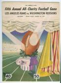 8/26 1949 Los Angeles Rams Washington Redskins NFL football Program em