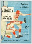 9/5 1960 Cardinals vs Green Bay Packers football Program nm