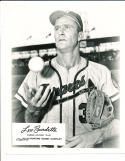 1956 Lou Burdette Milwaukee Braves  Rawling Sporting Goods Advisory Card 8x10 p