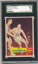 1957 Topps #5 Bill Sharman Boston Celtics SGC 84 nm 7