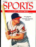 1956 7/30 sports illustrated no label newsstand Joe Adcock Braves