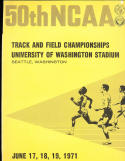 1971 NCAA track & Field Championship Media Guide Steve Prefontaine!