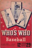 Baseball 1944 Who's Who - Bill Johnson | Guy Curtwright | Dick Wakefield