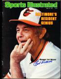 1979 6/18  sports illustrated Earl Weaver Orioles no label newsstand signed psa/dna