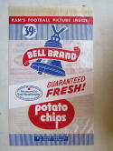 1960 Football Bell Brand Potato Chips mint bag