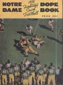 Notre Dame 1955 Fighting Irish Football Dope Book