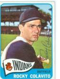 1965 Topps Rocky Colavito Indians pen signed card