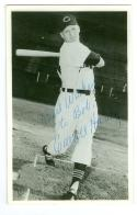 Carroll Hardy Signed Cleveland Indians Post Card