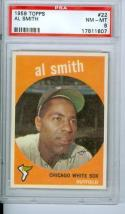 1959 Al Smith #22 topps psa 8 nm