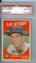 1959 Hal Griggs 434 topps psa 8 nm