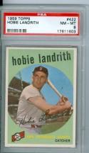 1959 Hobie Landrith 422 topps psa 8 nm