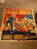 1930's Charlie Chaplin Laury Hardy French Poster