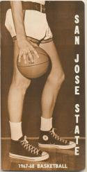 San Jose State 1967 - 1968  Basketball Media Guide-ex     Bx CBMG