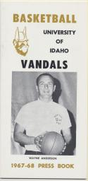 University of Idaho Vandals 1967 -  1968  Basketball Media Guide-ex    Bx CBMG